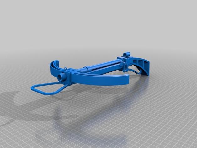 石弩 3D打印模型渲染图