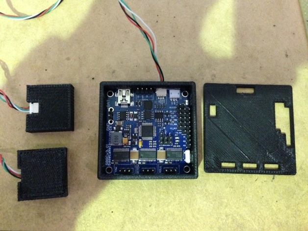 Alexmos 32字节的电路板 外壳 3D打印模型渲染图