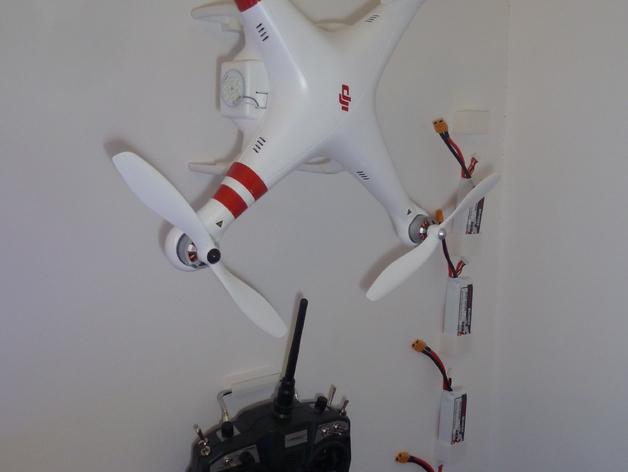 DJI Phantom 1四轴飞行器 支架 3D打印模型渲染图