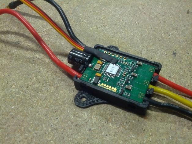 Afro 30A ESC电路板外壳 3D打印模型渲染图