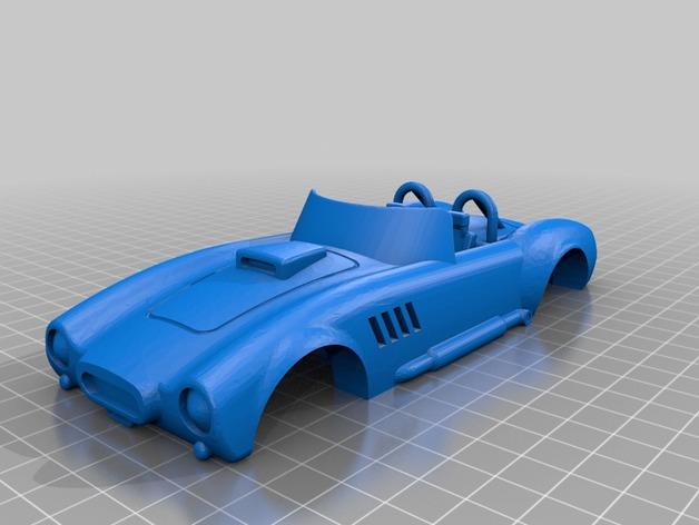 Pinewood AC跑车车身 3D打印模型渲染图