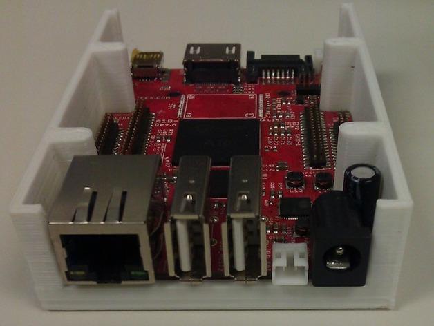 Olinuxino Lime电路板外壳 3D打印模型渲染图