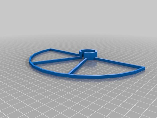 Crossfire四轴飞行器 螺旋桨防护栏 3D打印模型渲染图