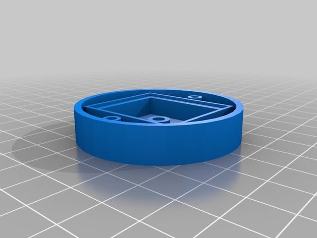 MTK 3329 GPS模块 底座 3D打印模型渲染图
