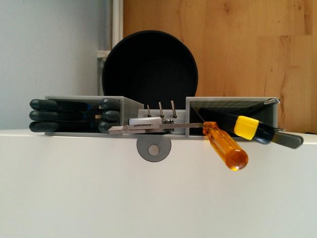 宜家橱柜工具架