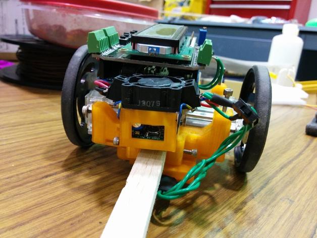 机器人探测器安装支架 3D打印模型渲染图