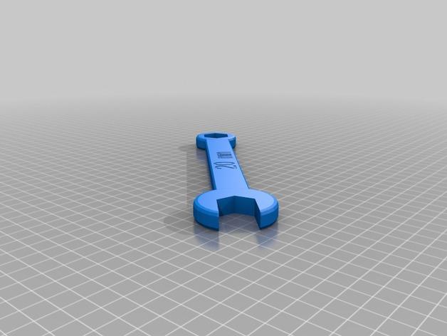20毫米扳手 3D打印模型渲染图