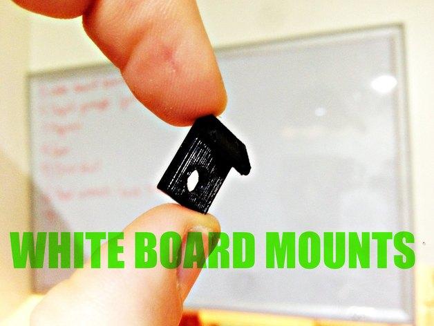 白板 固定架 3D打印模型渲染图
