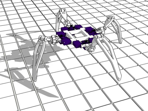 四足机器人 3D打印模型渲染图