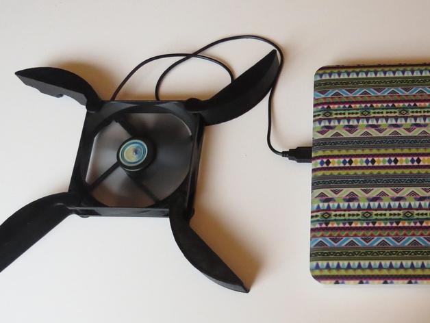 笔记本电脑散热器  3D打印模型渲染图