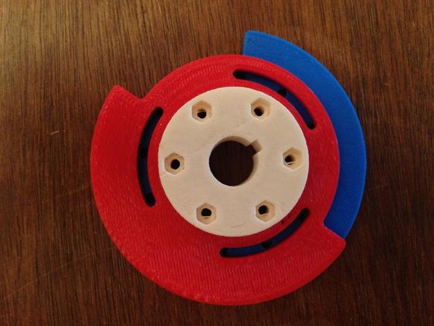 可调凸轮 3D打印模型渲染图