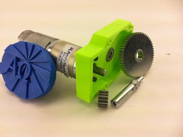 变速器箱体  3D打印模型渲染图