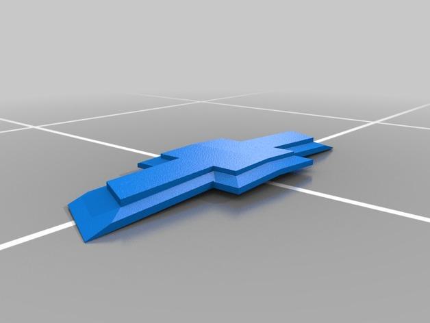 雪佛兰汽车 标志 3D打印模型渲染图