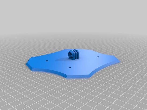 四轴飞行器主体部分 3D打印模型渲染图