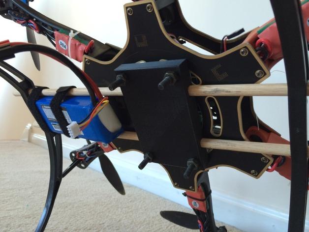 六轴飞行器 相机和电池底座 3D打印模型渲染图