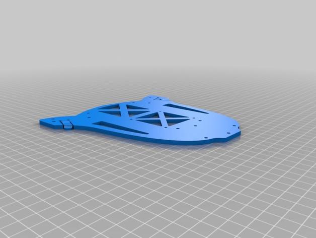 多轴飞行器蝶形尾部