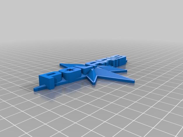 北极星徽章 3D打印模型渲染图