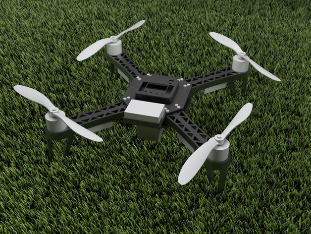 QX380四轴飞行器 3D打印模型渲染图