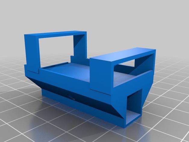 三轴飞行器零部件支架 3D打印模型渲染图