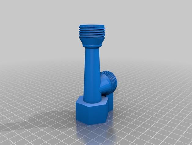 文丘里管 3D打印模型渲染图