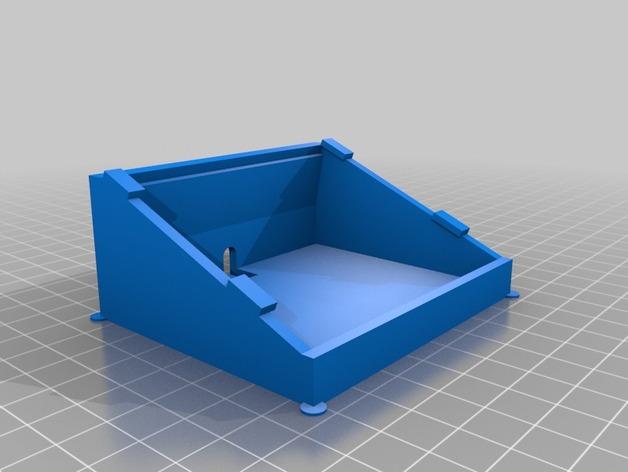 Adafruit LCD显示屏架 3D打印模型渲染图
