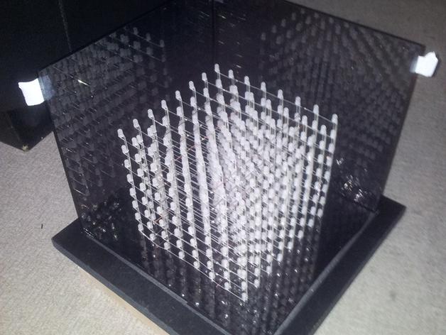 LED立方体 夹具 3D打印模型渲染图