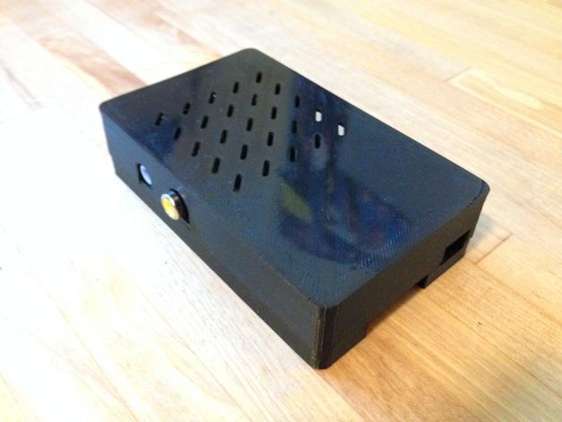 组装式树莓派外壳 3D打印模型渲染图