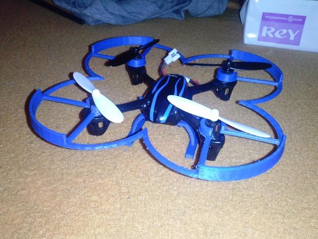 Hubsan x4四轴飞行器 3D打印模型渲染图
