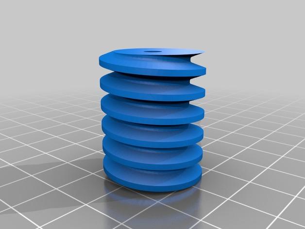 蜗轮蜗杆 3D打印模型渲染图