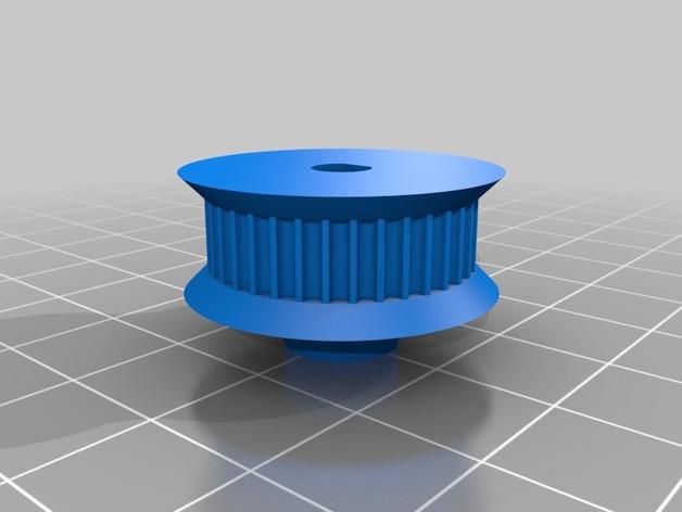 同步带轮  3D打印模型渲染图