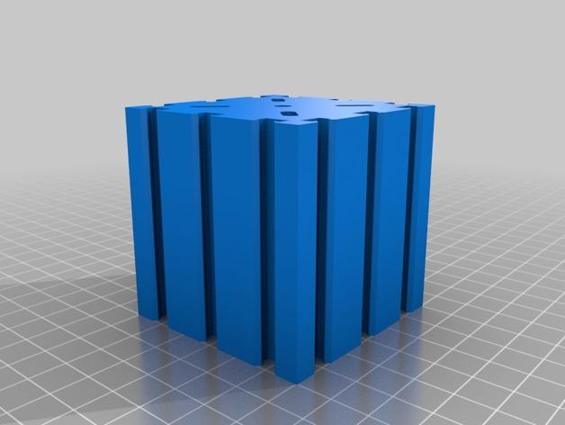 致动器支架 3D打印模型渲染图