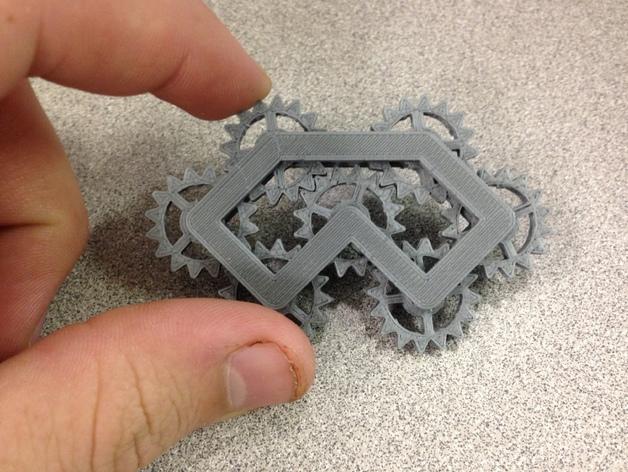 齿轮装置 3D打印模型渲染图