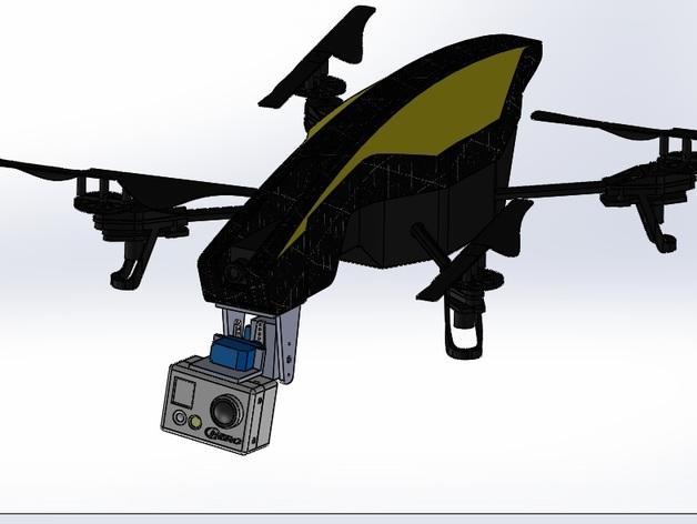 无人机 相机常平架 3D打印模型渲染图