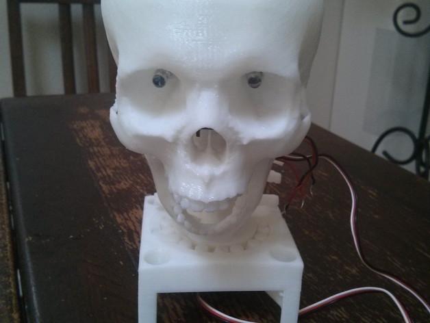 骷髅头 机器人 3D打印模型渲染图