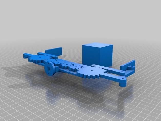 参数定制化机械爪 3D打印模型渲染图