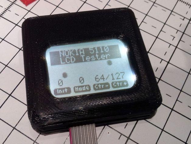 Nokia 5110 LCD显示屏外壳 3D打印模型渲染图