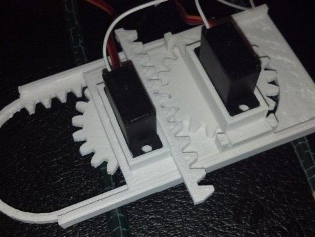 迷你CNC设备 3D打印模型渲染图