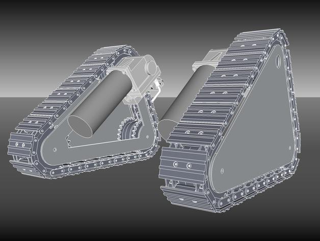 坦克履带 3D打印模型渲染图