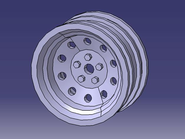 遥控车 轮辋 3D打印模型渲染图
