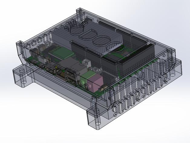 四轴飞行器底座 3D打印模型渲染图