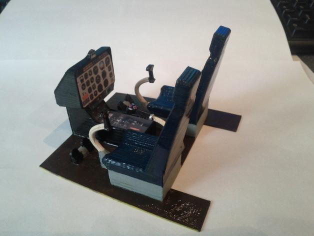 迷你驾驶舱 3D打印模型渲染图