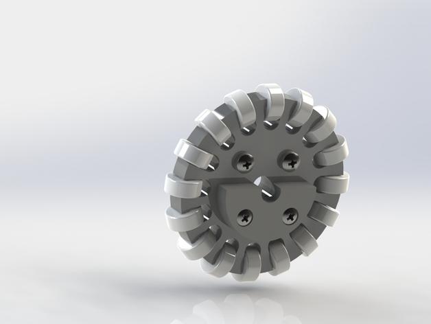 全向轮 3D打印模型渲染图