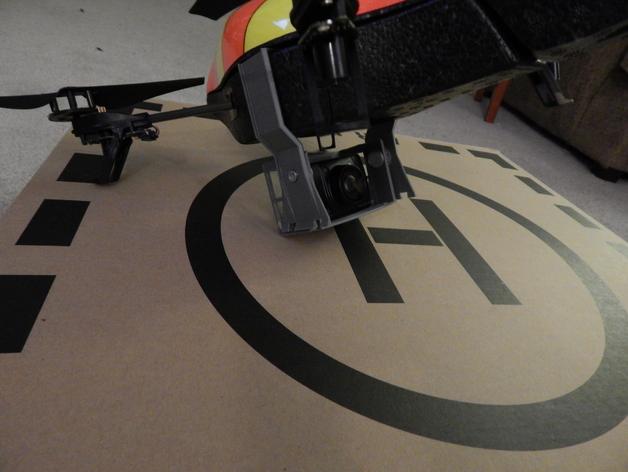无人机 相机支架 3D打印模型渲染图