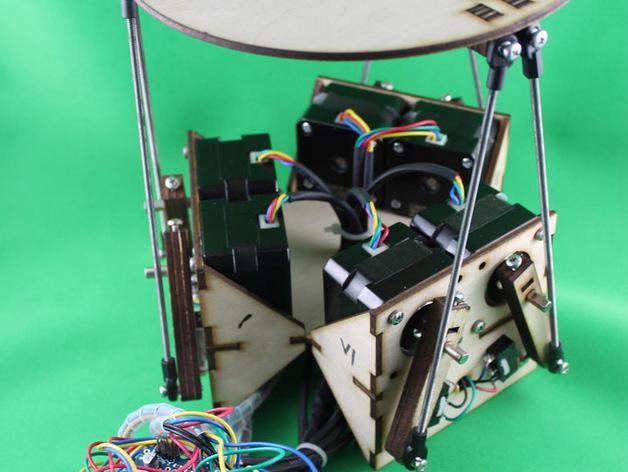 斯图尔特平台 3D打印模型渲染图