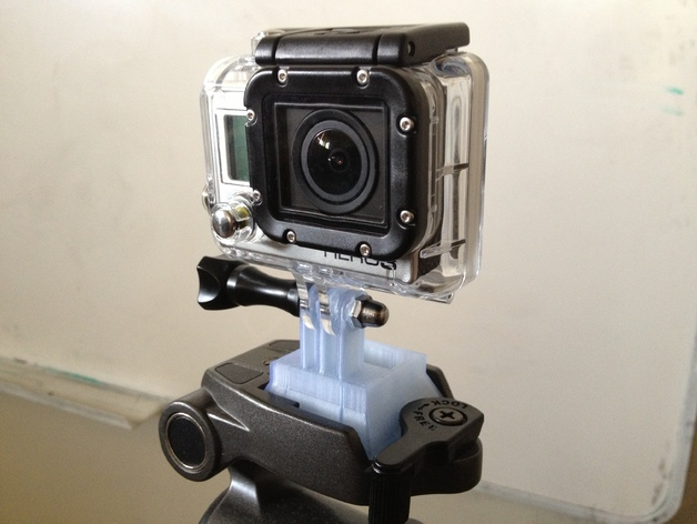 GoPro相机三脚架连接器 3D打印模型渲染图