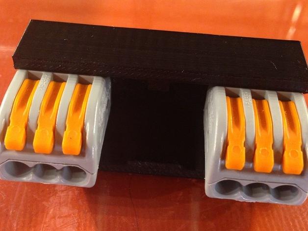 Wago 222-413 万能连接器 3D打印模型渲染图