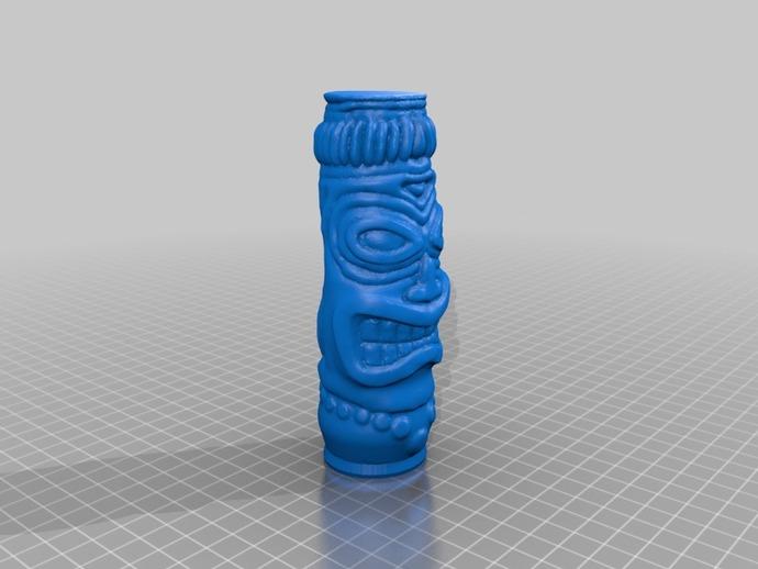 tiki握式手柄 3D打印模型渲染图