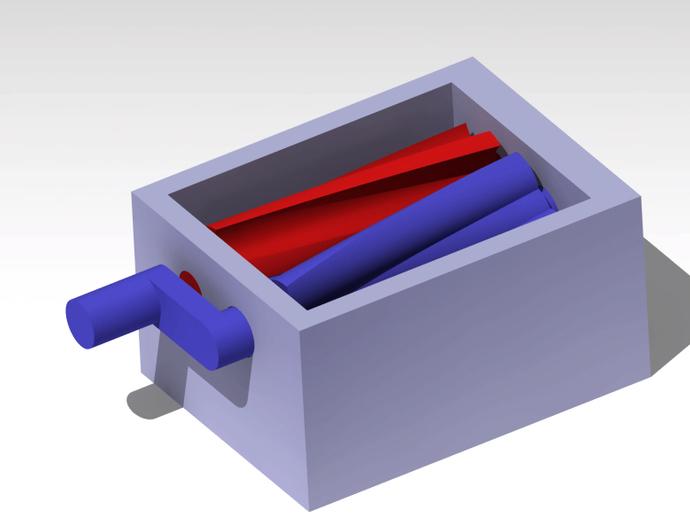 双螺杆增压器工具 3D打印模型渲染图
