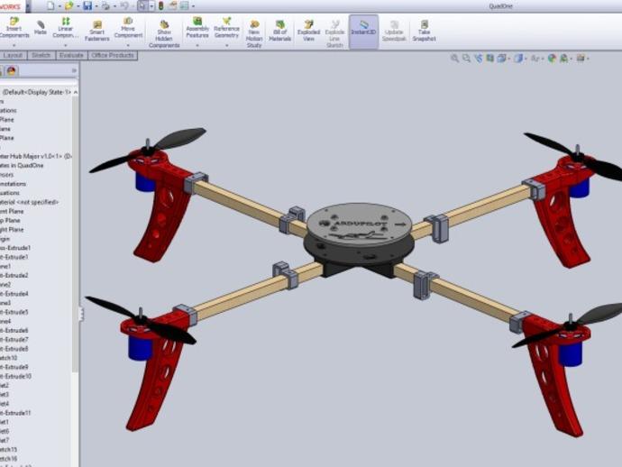 四轴飞行器 发动马达 3D打印模型渲染图