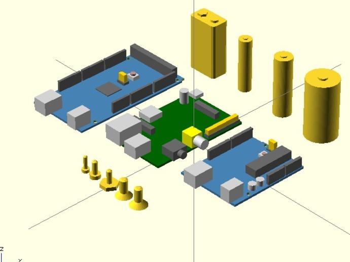 KSolids——开放式SCAD图书馆 3D打印模型渲染图